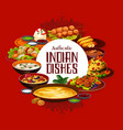 indian food authentic dishes cuisine menu vector image vector image