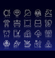 insomnia simple white line icons set vector image