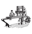 iron planer vintage vector image vector image