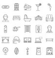lodging icons set outline style vector image vector image