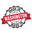 made in washington round seal vector image vector image