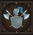 medieval emblem insignia vector image vector image