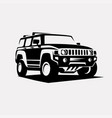 modern suv logo template offroader car stylized vector image vector image