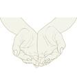 Open hands vector image
