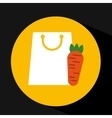 package buying fruit carrot fresh icon vector image vector image