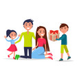 parents day poster depicting smiling family vector image vector image