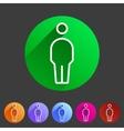 person men user icon flat web sign symbol logo vector image vector image