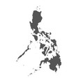 philippines map black icon on white background vector image vector image