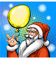 pop art santa claus in red vector image vector image