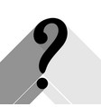 question mark sign black icon with two vector image vector image