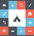 set of 13 editable camping icons includes symbols vector image vector image