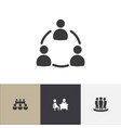 set of 4 editable business icons includes symbols vector image vector image