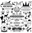 Set of christmas decorations and labels vector image vector image