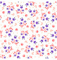 simple feminine flower seamless pattern vector image vector image
