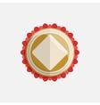 simple flat badge with red ribbon vector image vector image