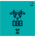 simple logo concept dog for petshop and animal vector image vector image