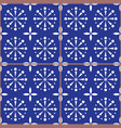 spanish or portuguese tiles pattern azulejo vector image vector image