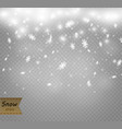 stock falling snow snowflakes vector image vector image