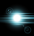 sunrise light effect aqua color vector image vector image
