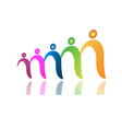 Teamwork people in file logo vector image vector image