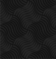 Textured black plastic striped pillows pin will vector image vector image