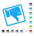 thumb down icon rubber watermark vector image vector image