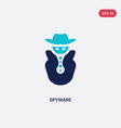 Two color spyware icon from cyber concept