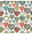Valentines card Seamless pattern vector image vector image