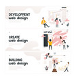 web design development concept on horizontal vector image vector image