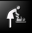 women and baby symbol baby changing gray vector image vector image