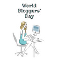 world bloggers day vector image vector image
