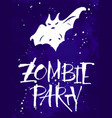 zombie party halloween card vector image