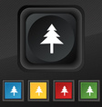 Christmas tree icon symbol Set of five colorful vector image