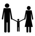 family the black color icon vector image