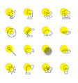 16 bright icons vector image vector image