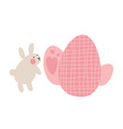 adventures of easter bunnies who are looking for vector image vector image