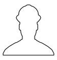 avatar builder architect engineer in helmet view vector image vector image