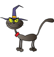 Black Cat Witch vector image vector image