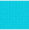 Blue Puzzles Pieces Square GigSaw - 100 vector image vector image