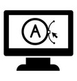 brand computer design icon simple style vector image