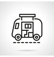 Camp car simple line icon vector image vector image