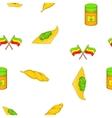 Cannabis pattern cartoon style vector image vector image