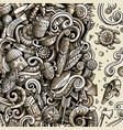 cartoon doodles africa monochrome african vector image vector image
