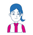 cartoon woman standing business employee character vector image vector image