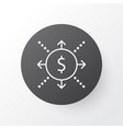 cash flow icon symbol premium quality isolated vector image vector image