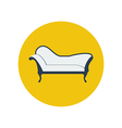 Chaise lounge armchair seat vector image vector image