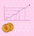 chart bitcoin increase in vector image