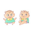 color cartoon joyful child vector image