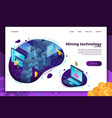 concept - cryptocurrency mining process vector image