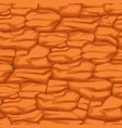 cracked pattern of orange earth seamless texture vector image